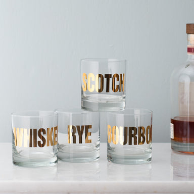 GOLD Mixology Rocks Glasses - Vital Industries