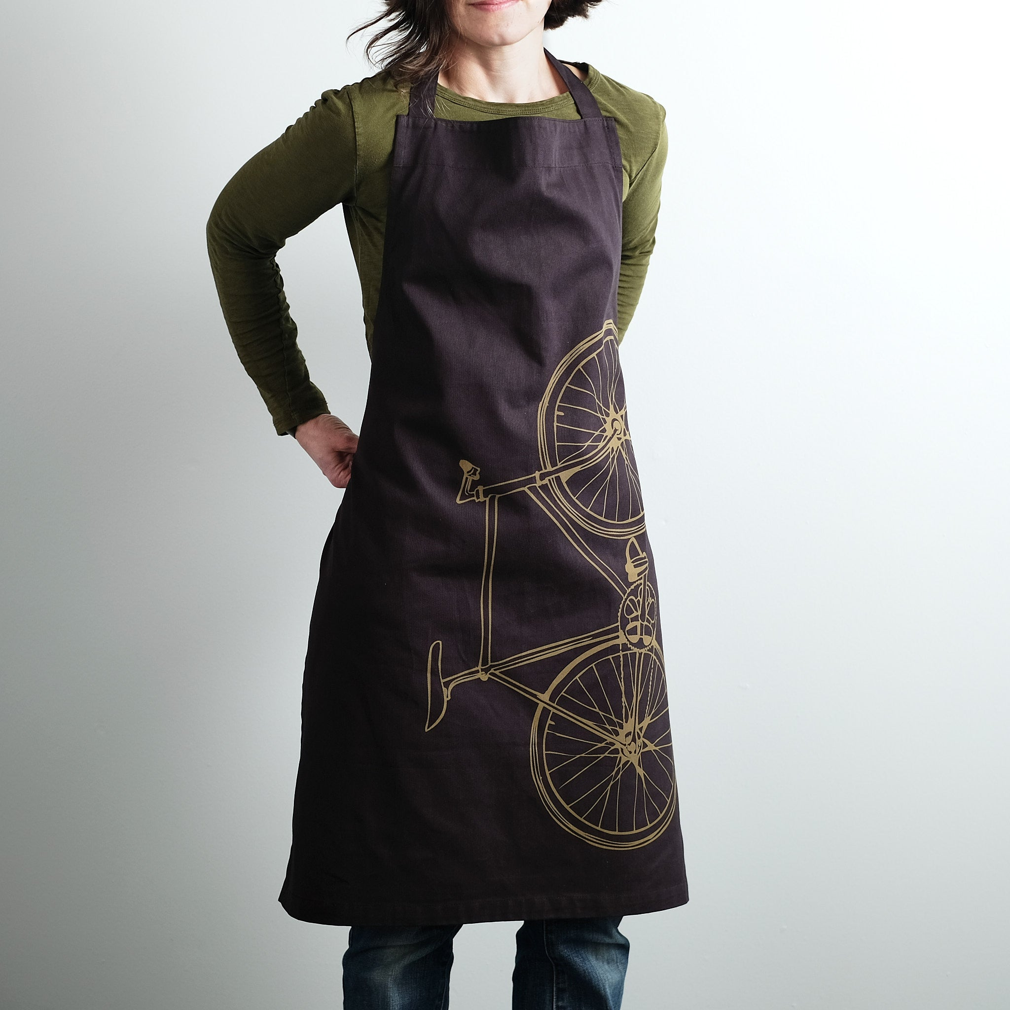 Bicycle Apron - Fixie Screen Print