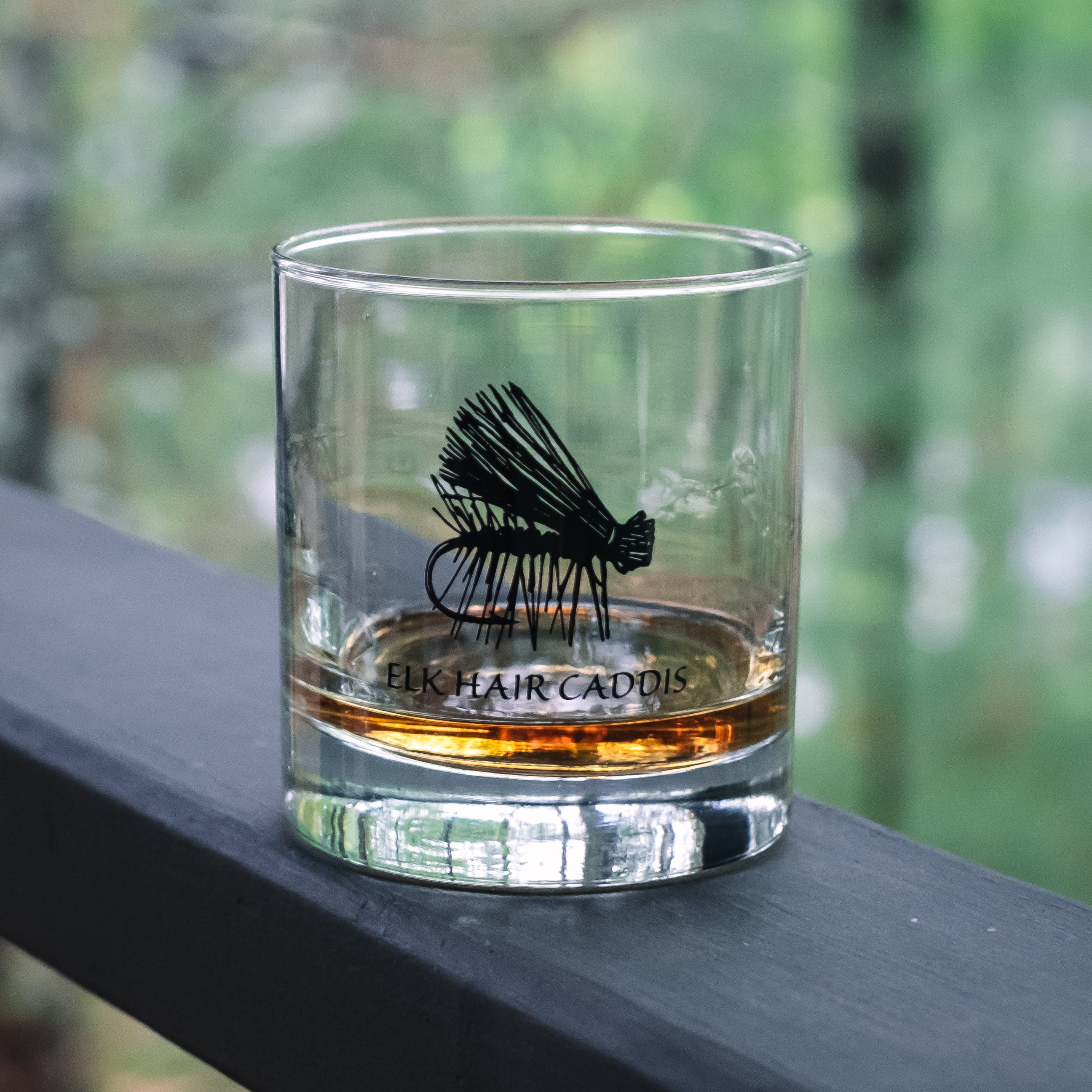 Fly Fishing Rocks Glassware
