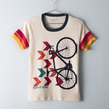 Women's Camp Chevron Bike Tee