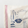 Kitchen Tools Stripe Tea Towel