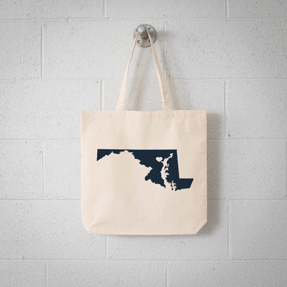Baltimore Maryland State tote bag