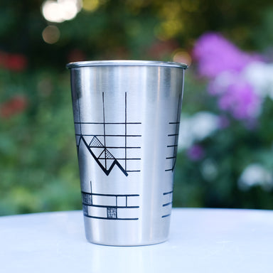 Printed Stainless Steel Pint