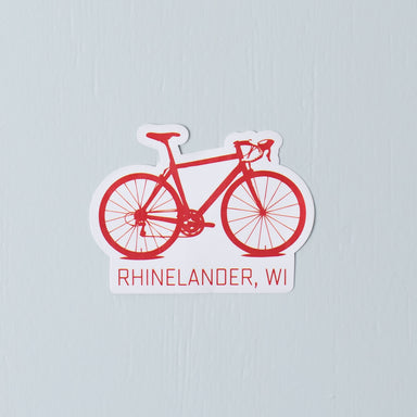 Rhinelander, WI Bicycle Sticker