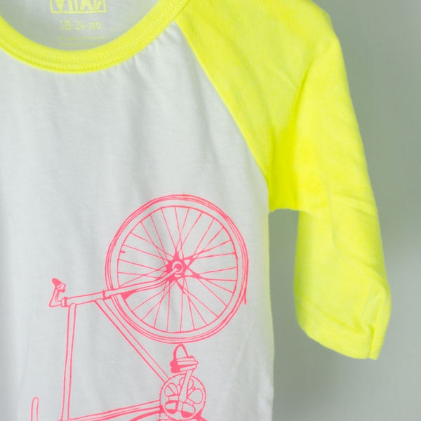 Infant/Toddler Fixie Neon Baseball Tee