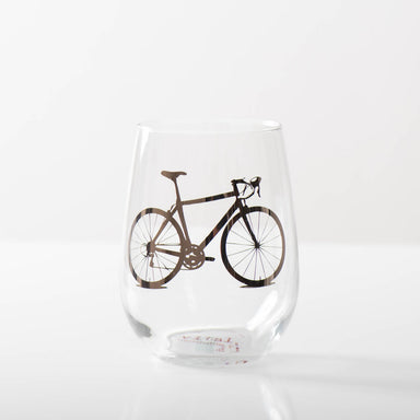 Platinum Bicycle Stemless Wine Glass