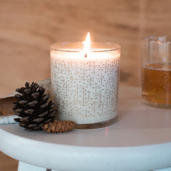 geometric midmod candle all natural soy reusable