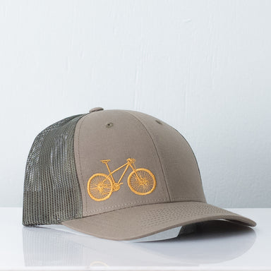 Mountain Bike Trucker Hat - Goldenrod