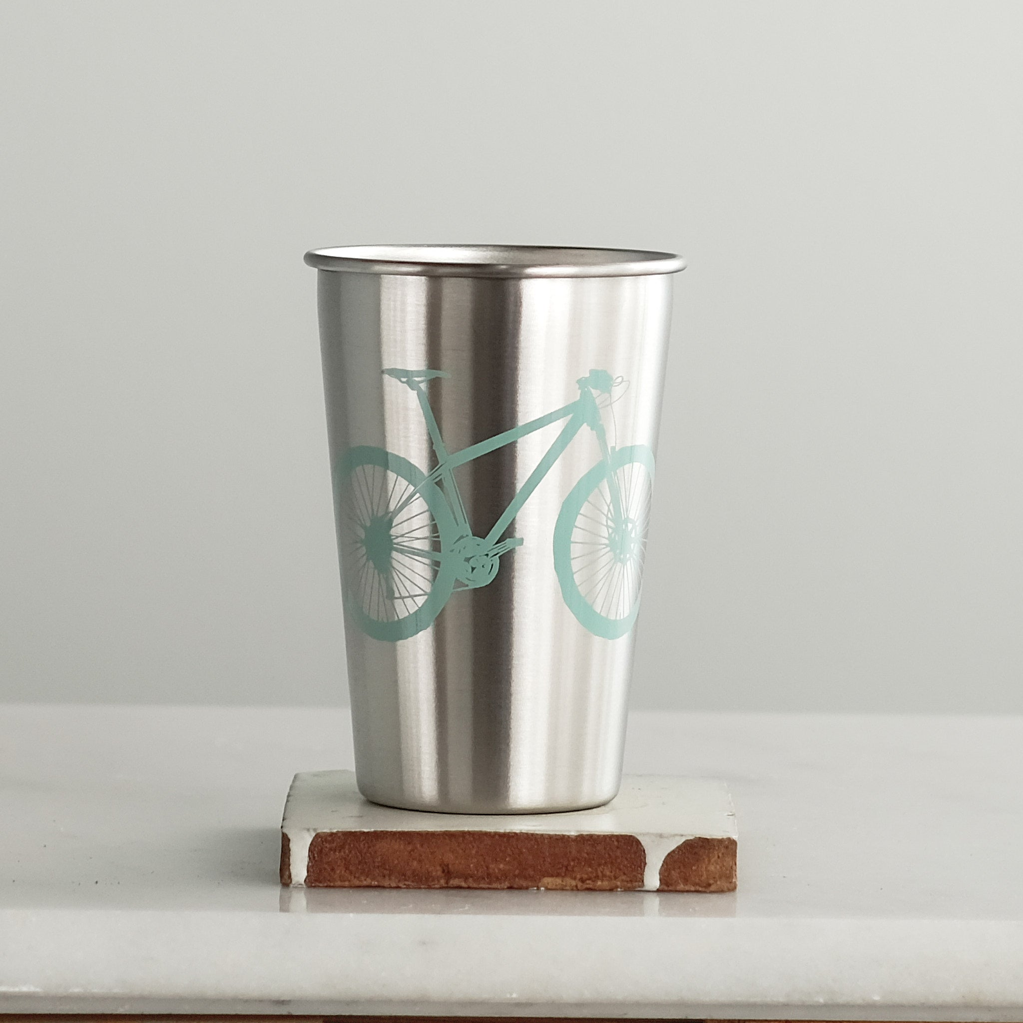 Mountain Bike Stainless Steel Pint Tumbler