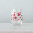 Bicycle Stemless Wine Glass