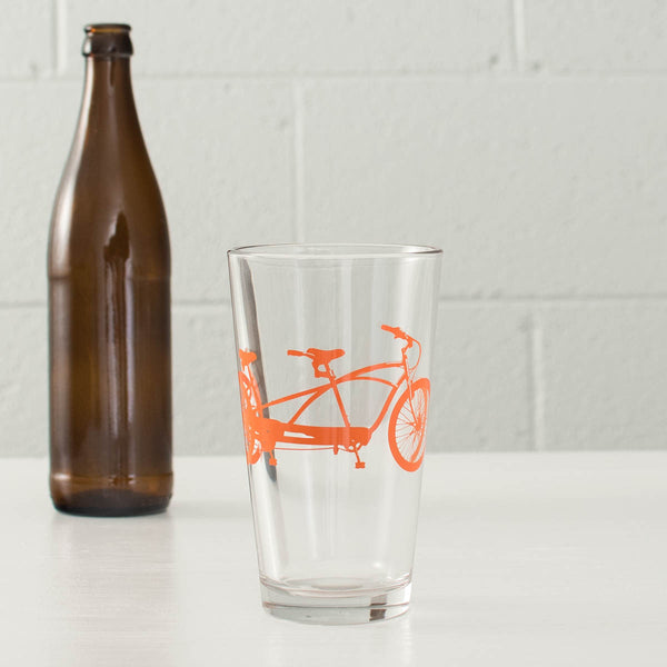 Tandem Bike Pint Glasses