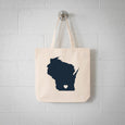 Madison Wisconsin State Tote Bag