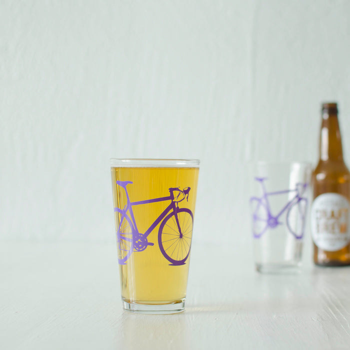 Bicycle Pint Glasses - Vital Industries