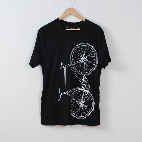 Men's Fixie Tee Slub Texture- Black & White