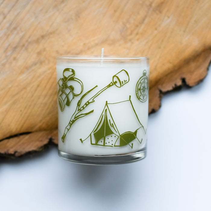Camping Tools Soy Candle screen printed camping equipment reusable Vital Industries