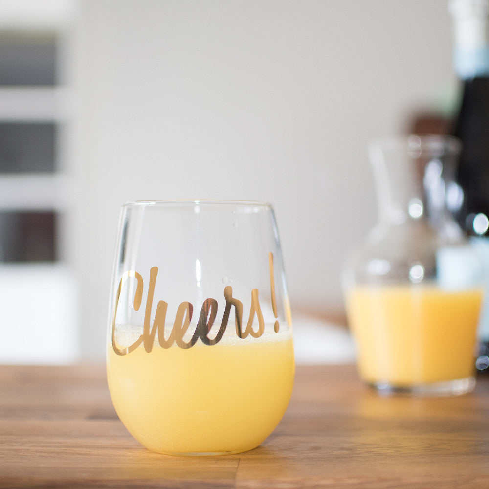 Cheers! Stemless Wine Glass