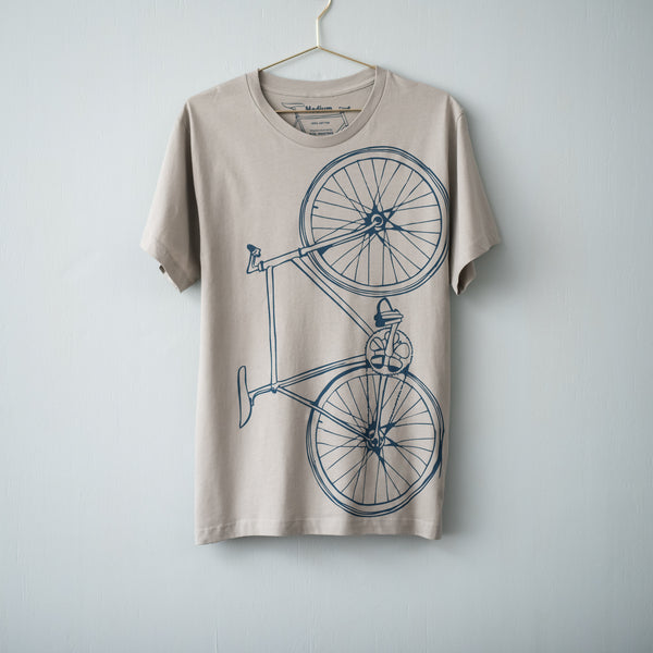 Men's fixie bicycle tshirt screen printed fixed gear bike graphic