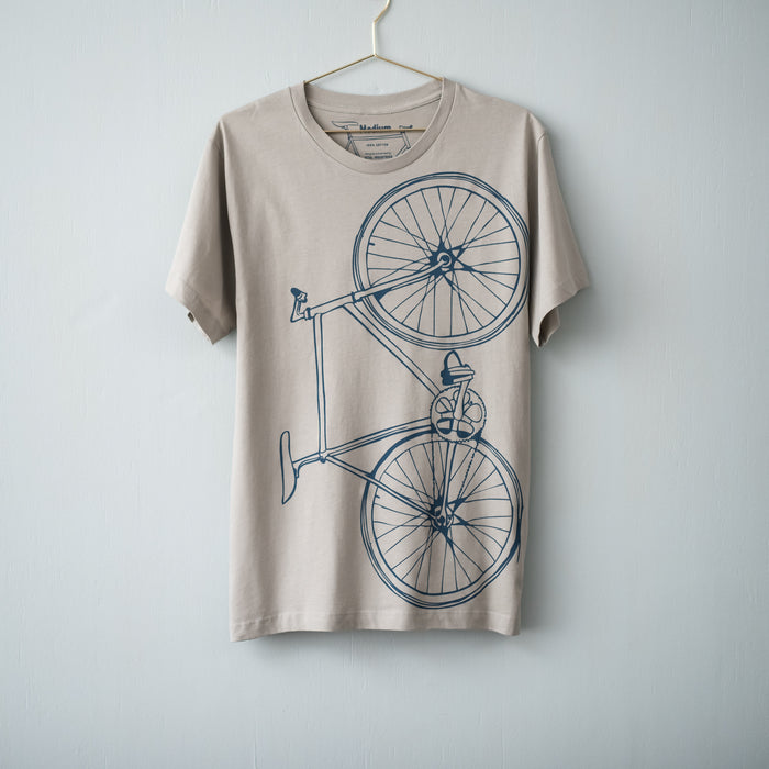 Men's Fixie Tee- Silver - Vital Industries