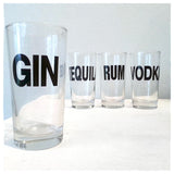 SALE Charcoal Mixology Collins Glasses