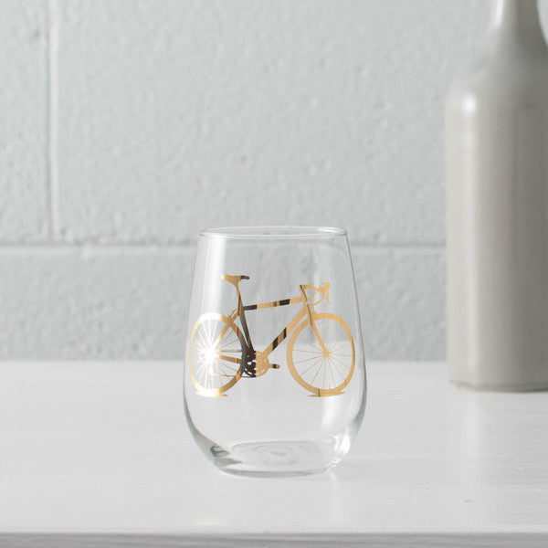 Precious Metals Bicycle Wine Glasses