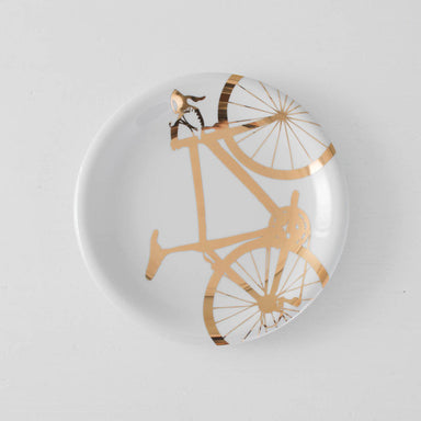 Gold Bicycle Dinner Plate - Vital Industries