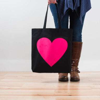 Hot Pink Heart Tote - Vital Industries