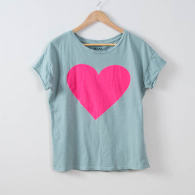 FINAL SALE- Choose Love, Women's Hot Pink Heart Tee - Vital Industries