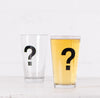 Punctuation pint glasses