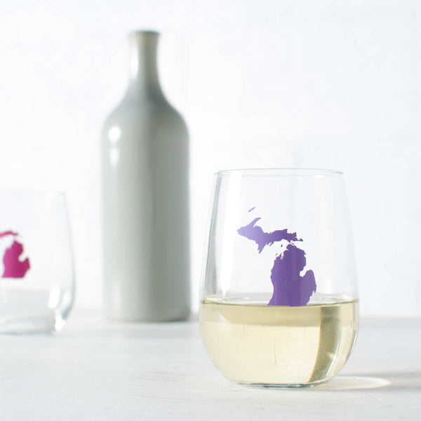 SALE- Limited Run- Michigan Wine Glass