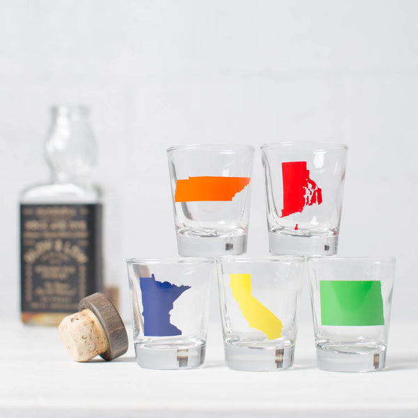 State Shot Glasses M-N