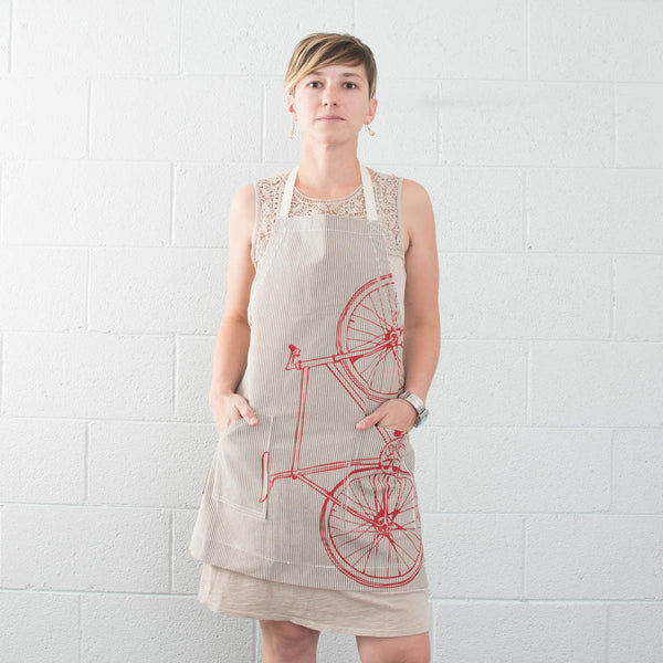 Fixie Striped Apron