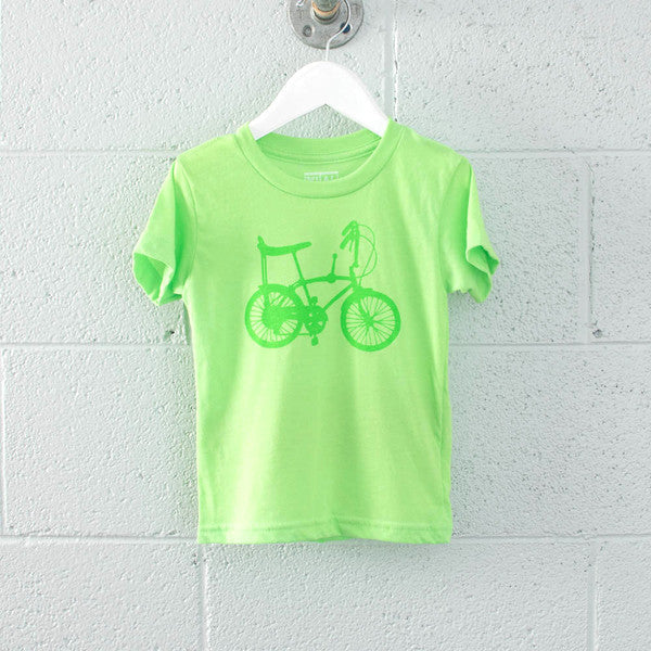 Neon Toddler Tee -  Wheelie Bike