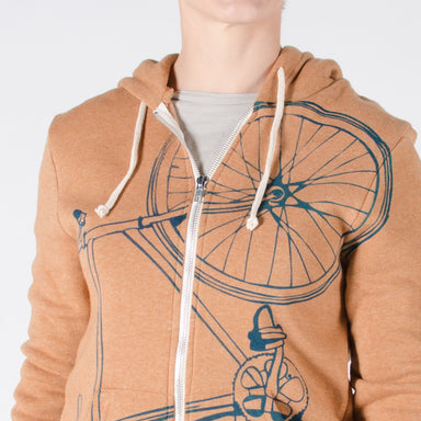 FINAL SALE Fixie Bicycle Midweight Hoodie - Vital Industries