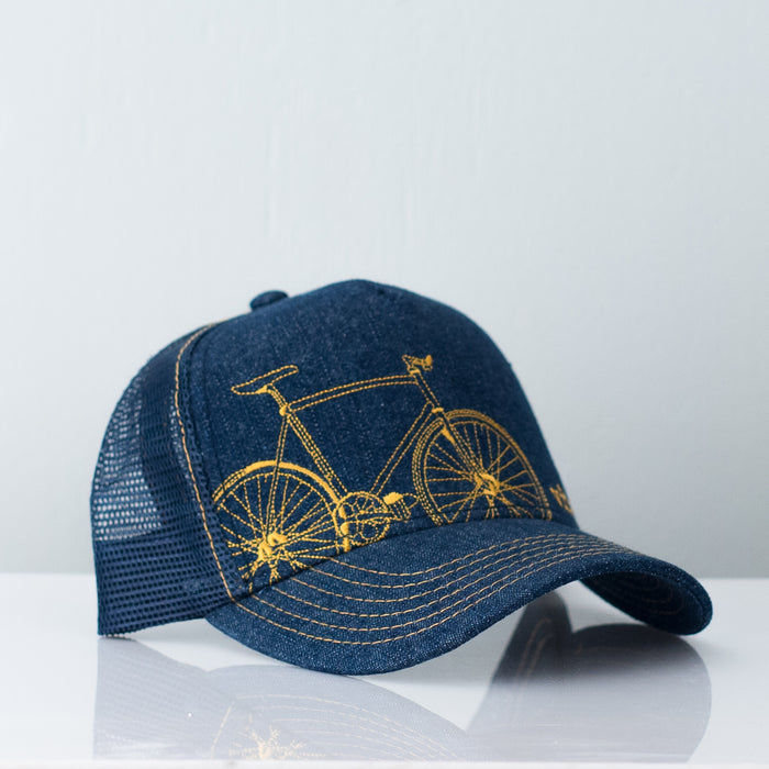 Denim Fixie Trucker Hat