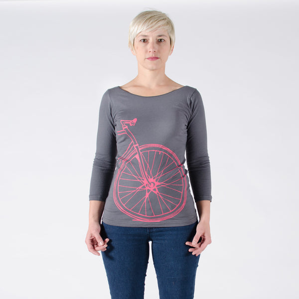 Women's Fixie Boat Neck Tee