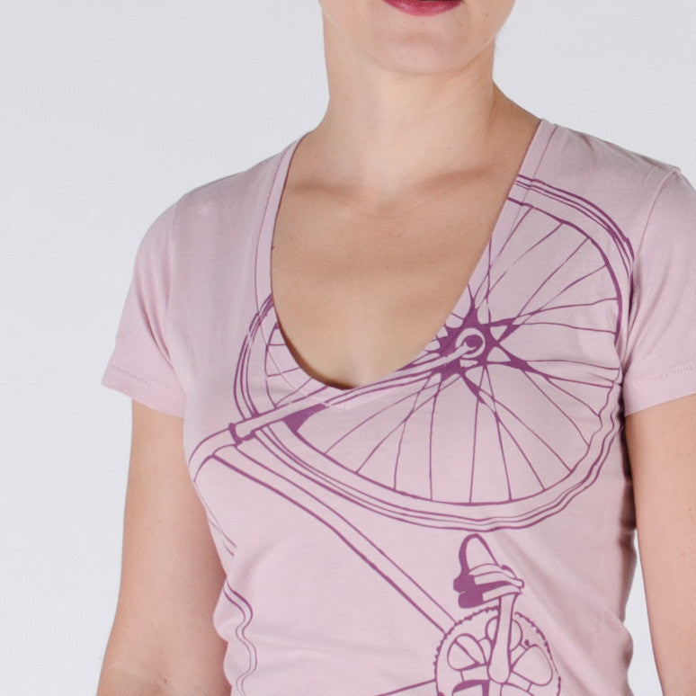 Women's Fixie V-Neck Tee - Limited Edition