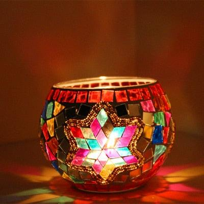 Starry Mosaic Candle Holder - apt201