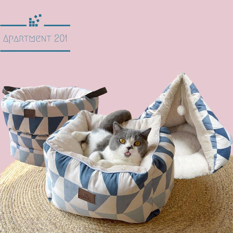 Geo Patterned Pet Bed - apt201