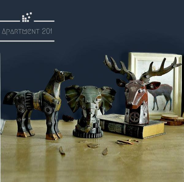 Steampunk Animal Figurines - Apartment 201