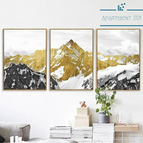 3 Panel Alpine Canvas Wall Art - Apartment 201