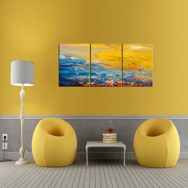 Yellow World  Wall Canvas - Apartment 201
