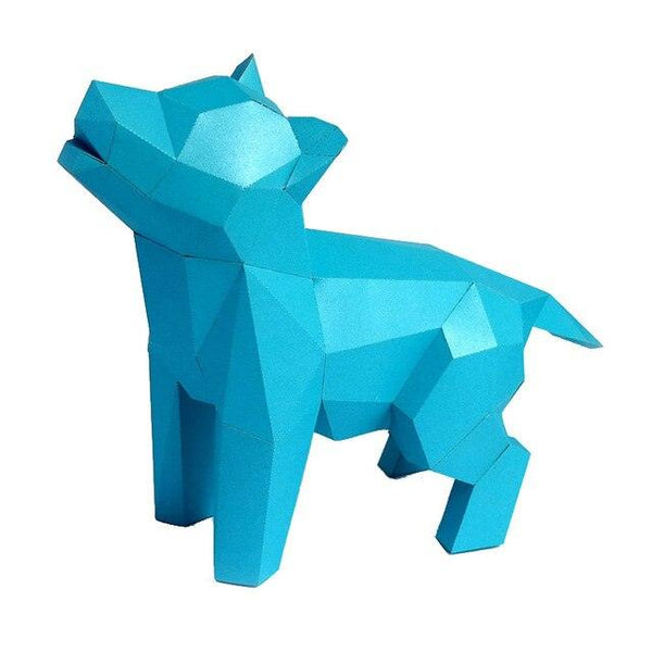 DIY 3D Paper Craft Dog - Apartment 201