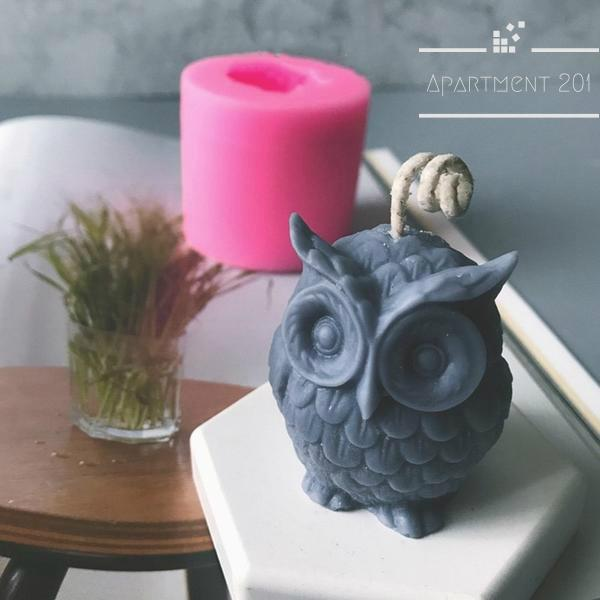 3D Owl Silicone Mold - Apartment 201