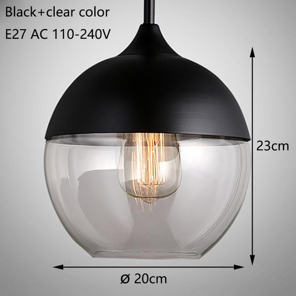 Modern Glass Shade Pendant Light - Apartment 201