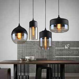Modern Glass Shade Pendant Light - apt201