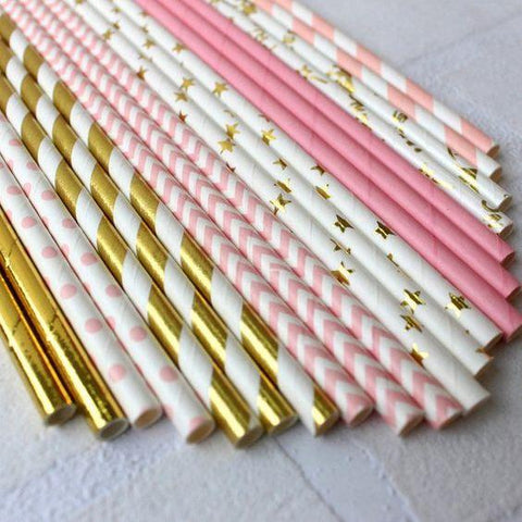 Glitzy Party Paper Straws Set - apt201