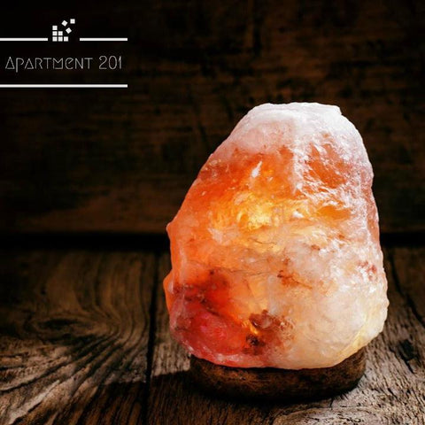 Himalayan Crystal Rock Multi Color Salt Lamp with Wooden Base - Apartment 201
