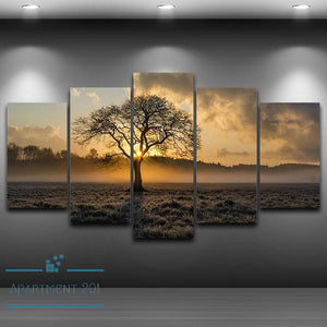 5 Panel Wondrous Earth Canvas Wall Art - Apartment 201