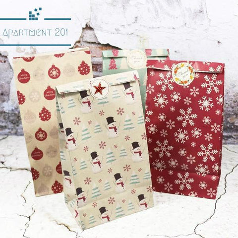Christmasy Gift Bags - Apartment 201