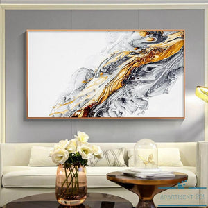 Abstract Ink Splash Canvas Wall Art - Apartment 201